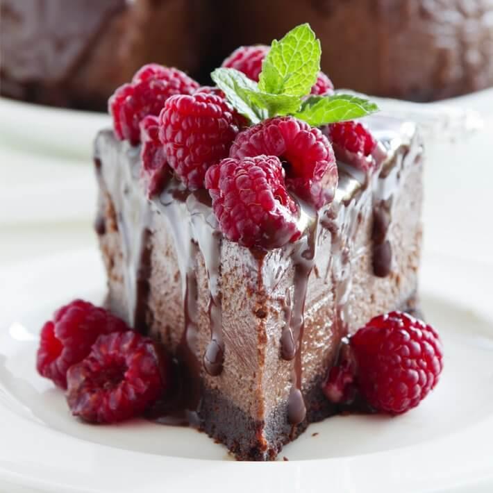 Keto No Bake Chocolate Cheesecake