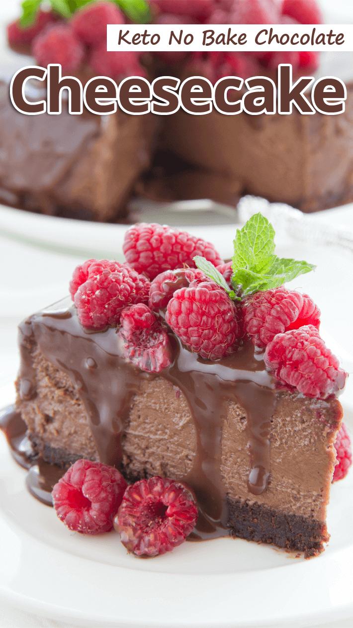 Keto No-Bake Chocolate Cheesecake