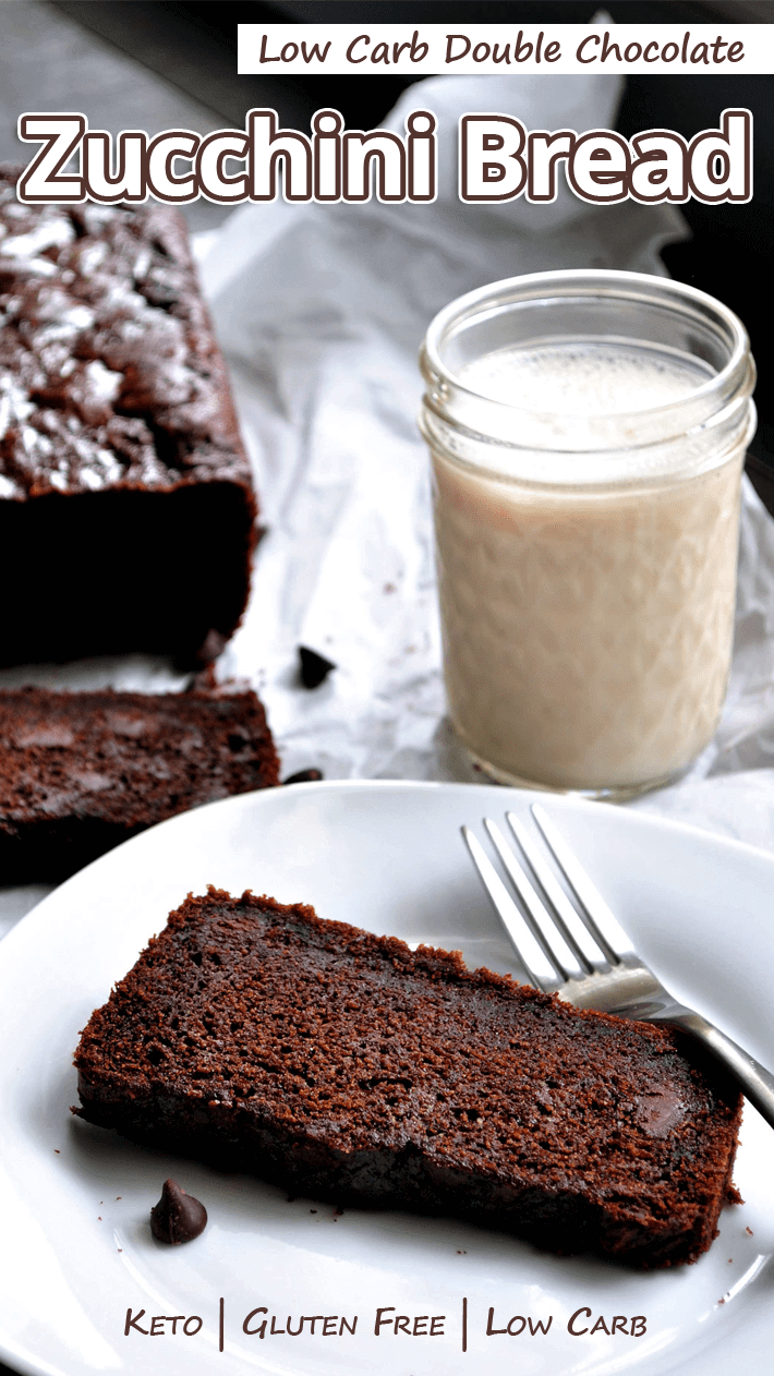 Low Carb Gluten Free Double Chocolate Zucchini Bread