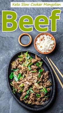 Keto Slow Cooker Mongolian Beef