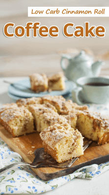 Low Carb Cinnamon Roll Coffee Cake