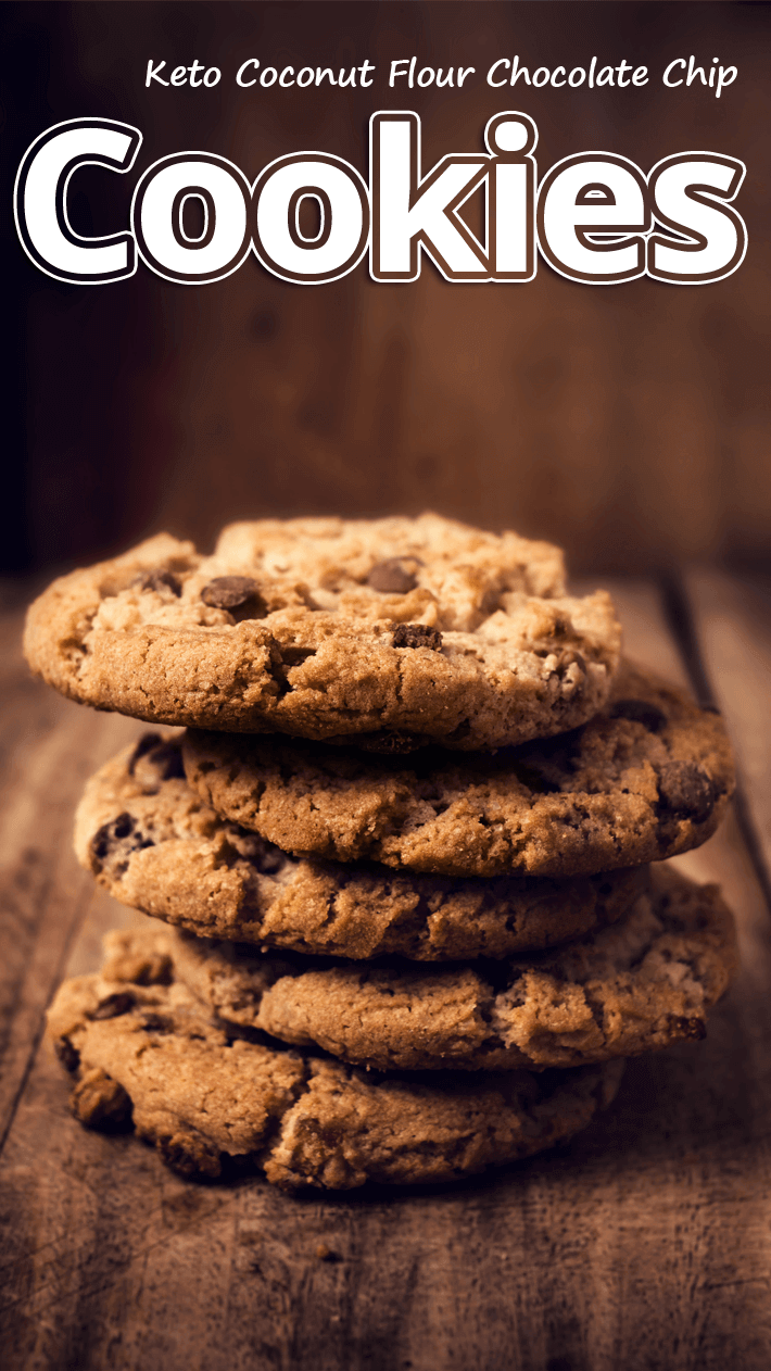 Keto Coconut Flour Chocolate Chip Cookies
