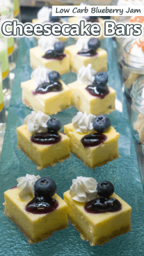Low Carb Blueberry Jam Cheesecake Bars