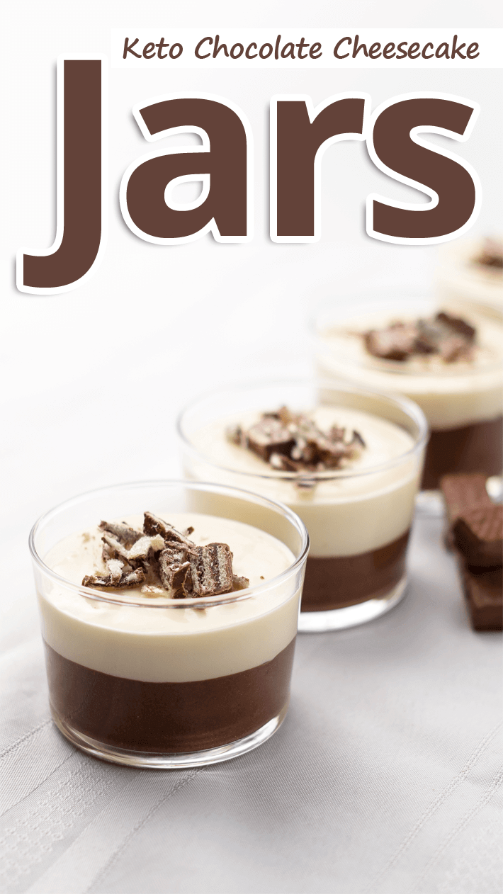 Keto Chocolate Cheesecake Jars
