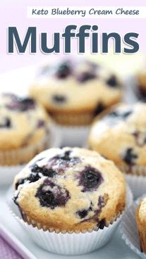 Keto Blueberry Cream Cheese Muffins