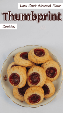Low Carb Almond Flour Thumbprint Cookies
