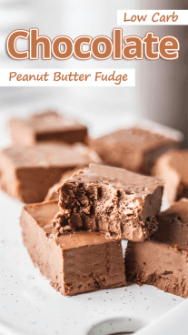 Low Carb Chocolate Peanut Butter Fudge