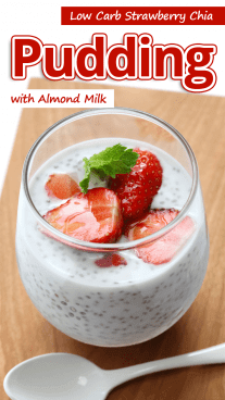 Low Carb Strawberry Chia Pudding with Almond Milk