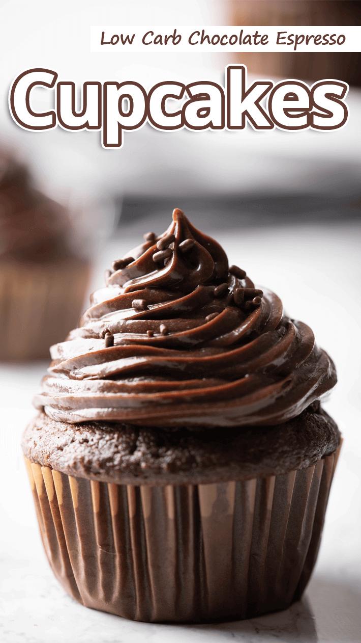 Low Carb Chocolate Espresso Cupcakes