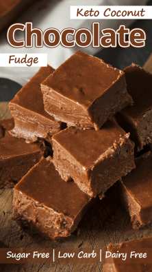 Low Carb Coconut Chocolate Fudge