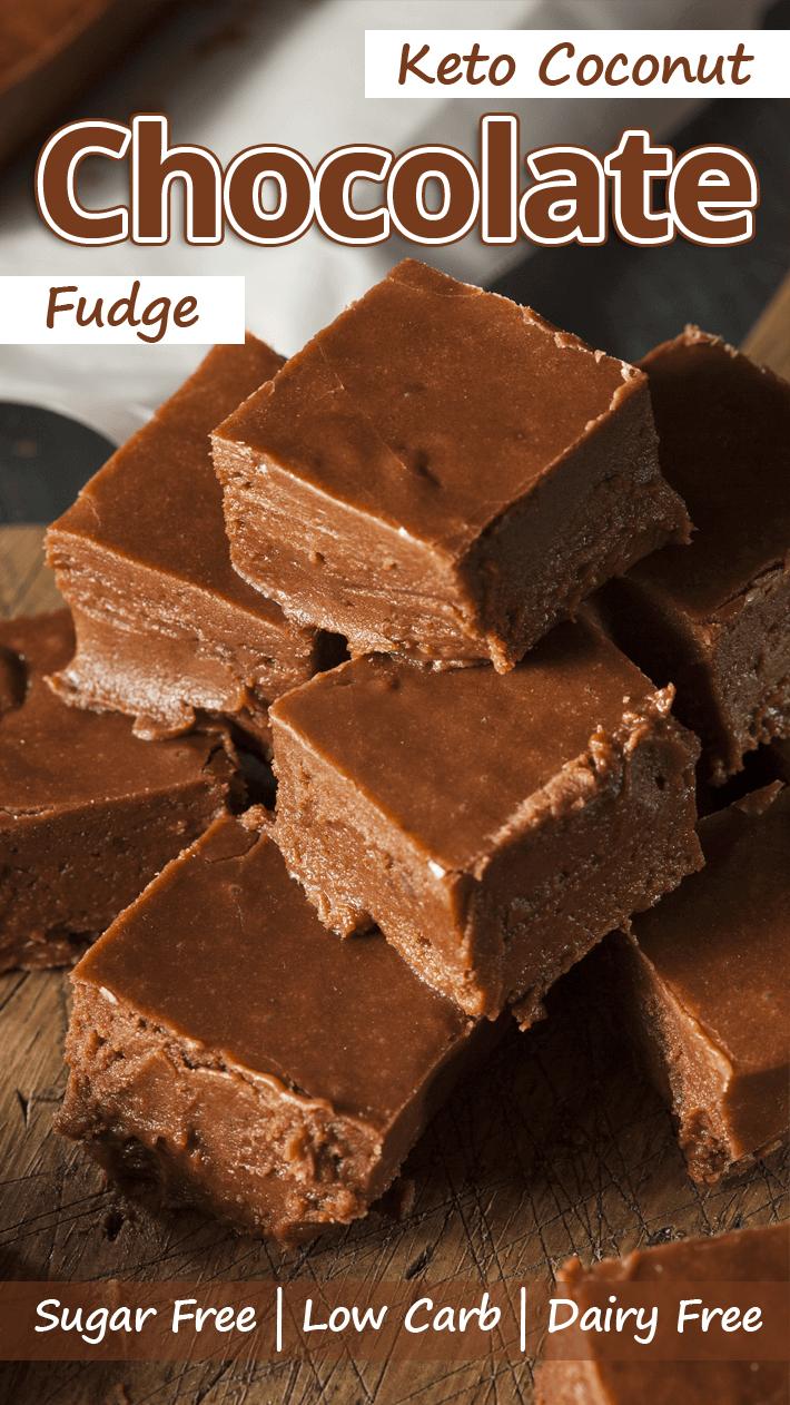 Low Carb Coconut Chocolate Fudge