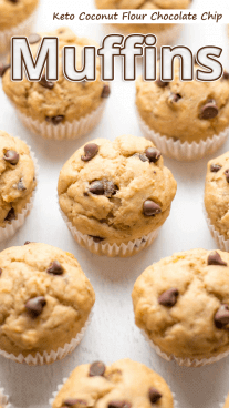 Keto Coconut Flour Chocolate Chip Muffins