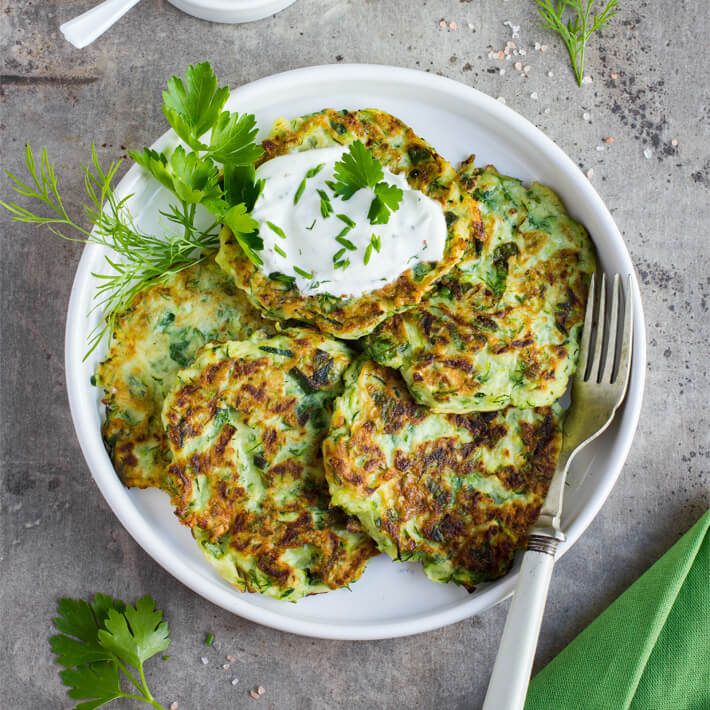 Low Carb Zucchini Fritters 2