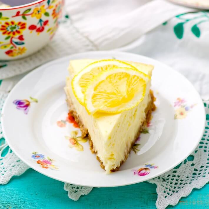Keto No-Bake Lemon Cheesecake