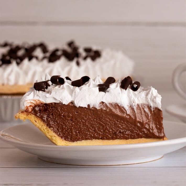 Keto Chocolate Silk Pie
