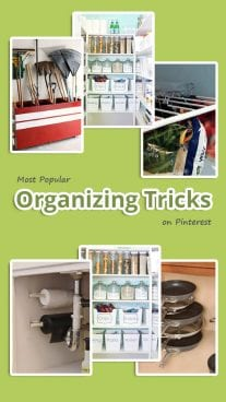 Most Popular Organizing Tricks on Pinterest