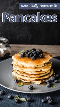 Keto Fluffy Buttermilk Pancakes