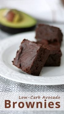 Low-Carb Avocado Brownies