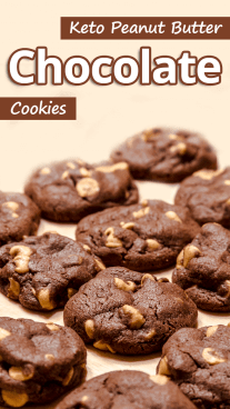 Keto Peanut Butter Chocolate Cookies