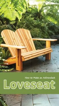 How to Make an Adirondack Loveseat