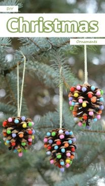 DIY - Christmas Pinecones Ornaments