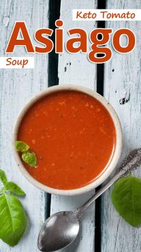 Keto Tomato Asiago Soup
