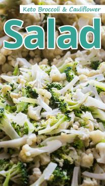 Keto Broccoli Cauliflower Salad