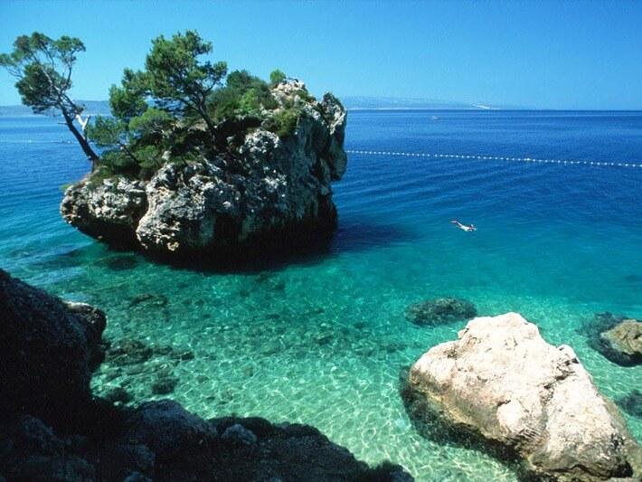 Baska Voda Beach, Croatia