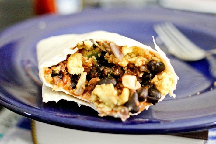 Black Bean and Feta Stuffed Burrito