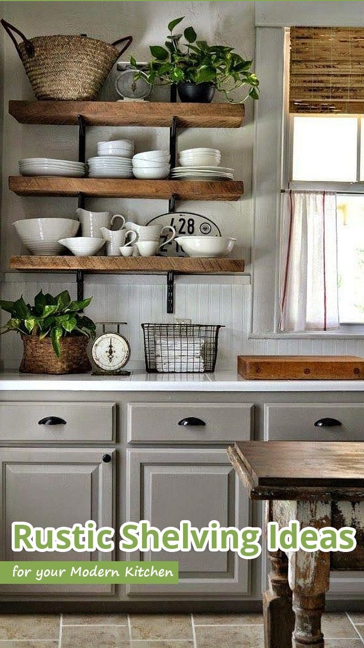 Rustic Shelving Ideas For Your Modern