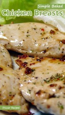 Simple Baked Chicken Breasts