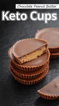 Chocolate Peanut Butter Keto Cups
