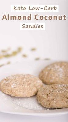 Keto Low-Carb Almond Coconut Sandies