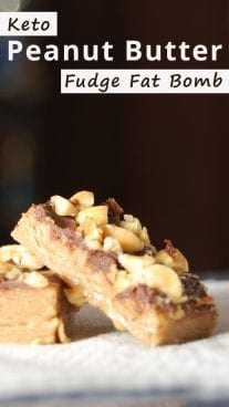 Keto Peanut Butter Fudge Fat Bomb