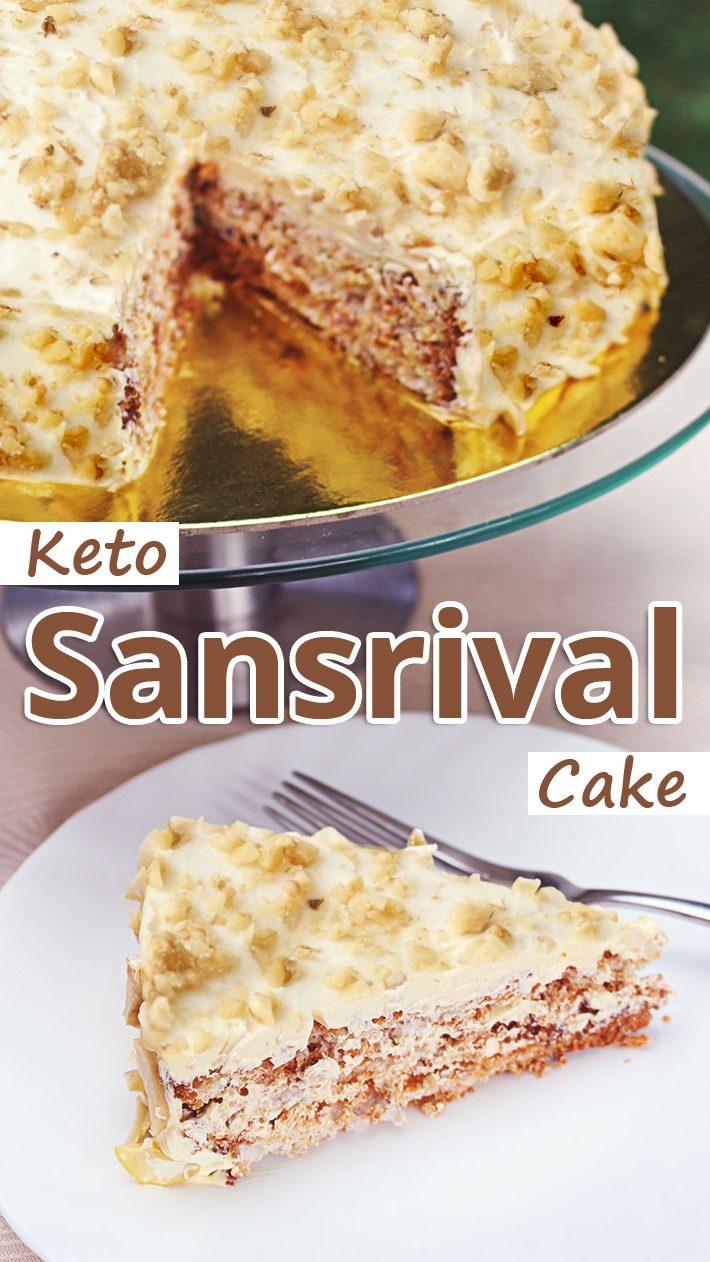 Keto Sansrival Cake