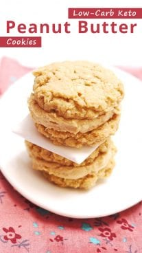 Low-Carb Keto Peanut Butter Cookies