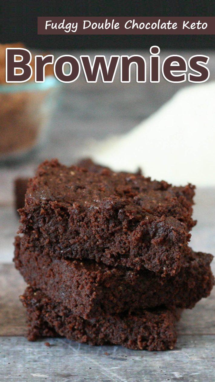 Fudgy Double Chocolate Keto Brownies