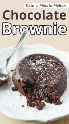 Keto 1 Minute Molten Chocolate Brownie