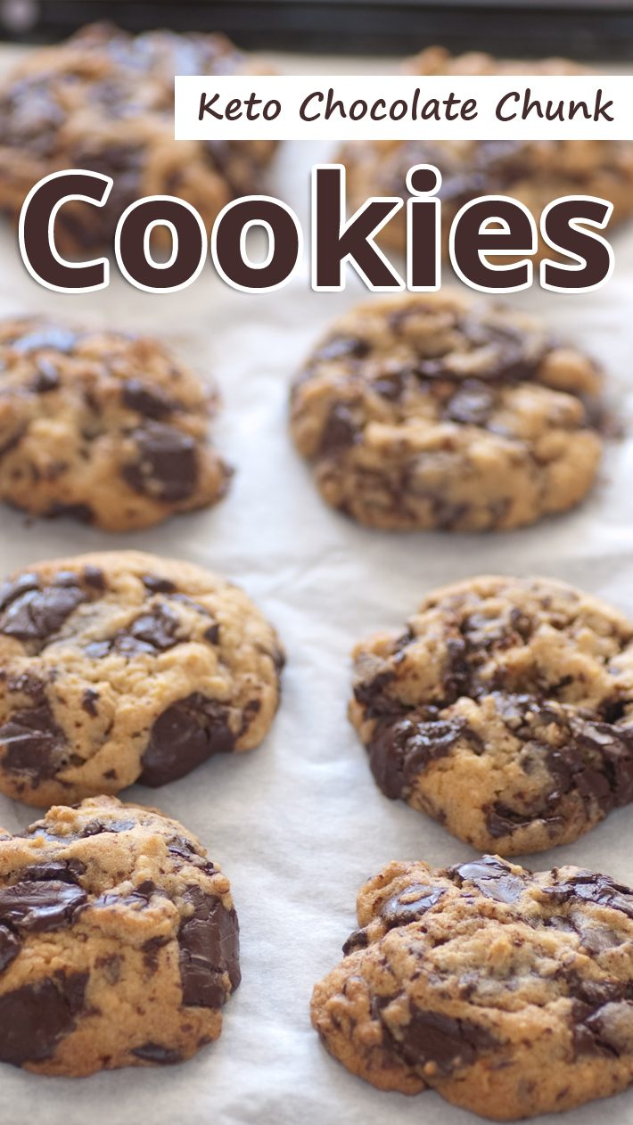 Keto Chocolate Chunk Cookies