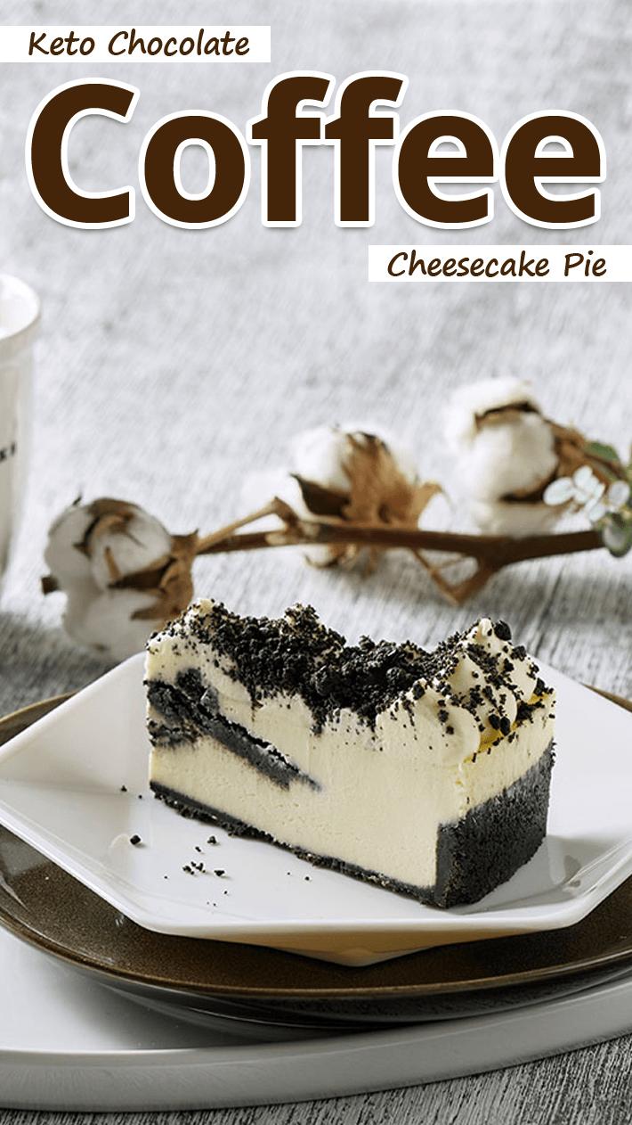 Keto Chocolate Coffee Cheesecake Pie