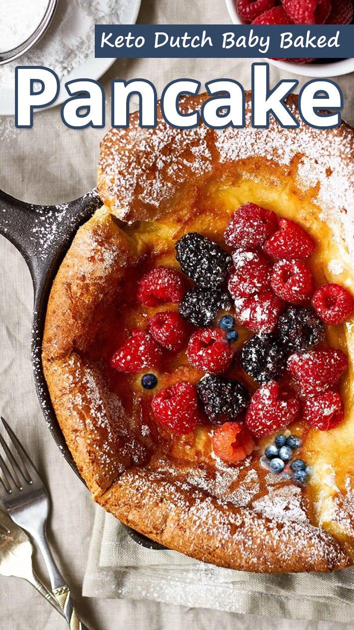Keto Dutch Baby Baked Pancake