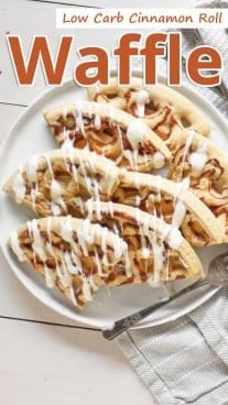 Low Carb Cinnamon Roll Waffle