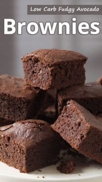 Low Carb Fudgy Avocado Brownies