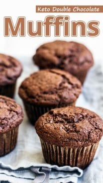 Keto Double Chocolate Muffins