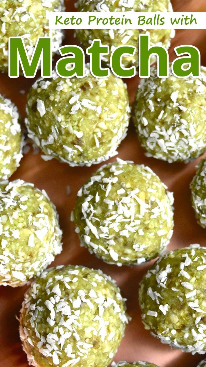 Keto Protein Balls with Matcha