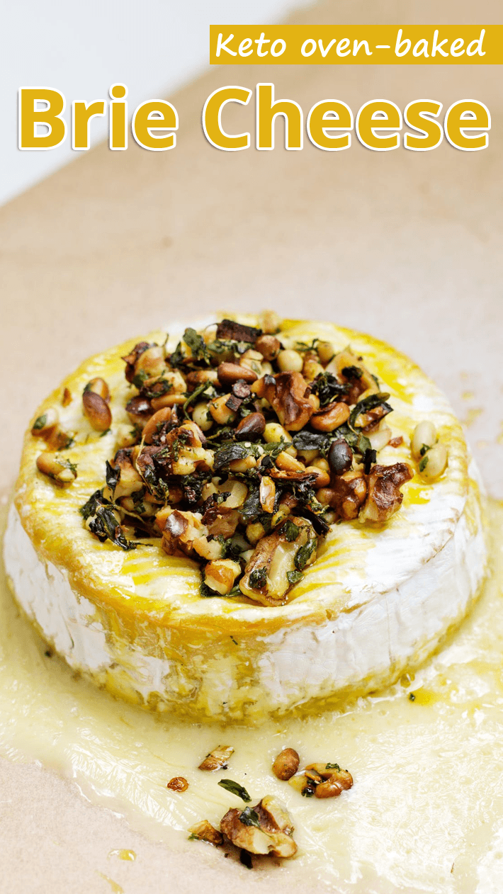 Keto oven-baked Brie Cheese