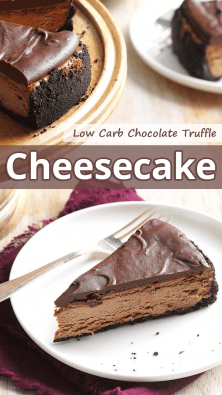 Low Carb Chocolate Truffle Cheesecake