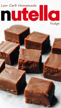 Low Carb Homemade Nutella Fudge