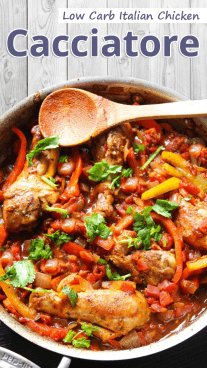 Low Carb Italian Chicken Cacciatore
